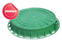 Люк пластиковый зеленный